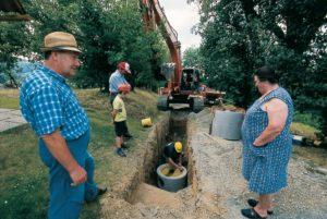 schwieriger Kanalbau im ländlichen Raum