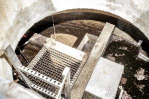 Blick ins Innere der 3-Kammer-Grube