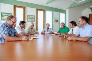 Obmann Hammer leitet die Mitgliederversammlung